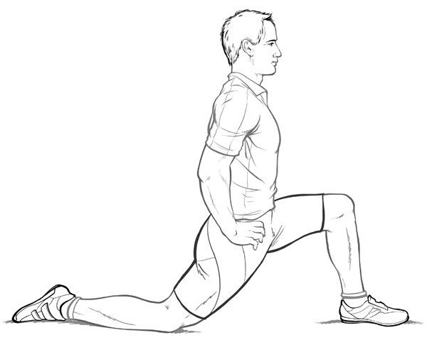 hip flexor overstretched