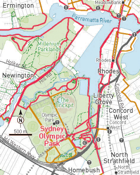 Family Riding Parks Sydney Map V2