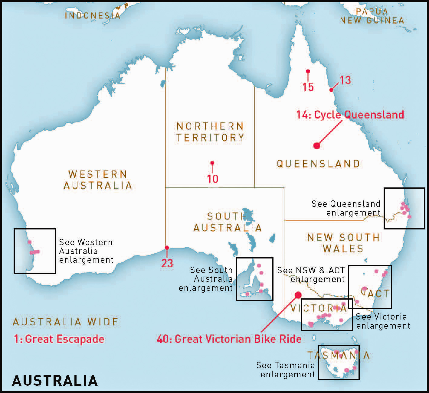 Australias top 50 bike riding experiences RideOn