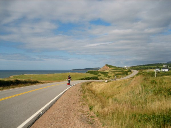 Entering Cheticamp on the eastern coast of Cape Breton. Photo by Claire Heintzman.
