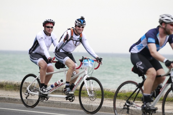 Andrew Devenish Meares and Tim Manton during Bupa Around the Bay.