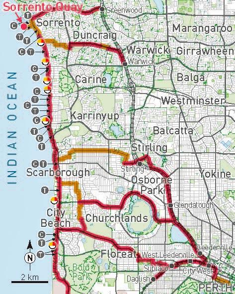 Perth Beaches Map V
