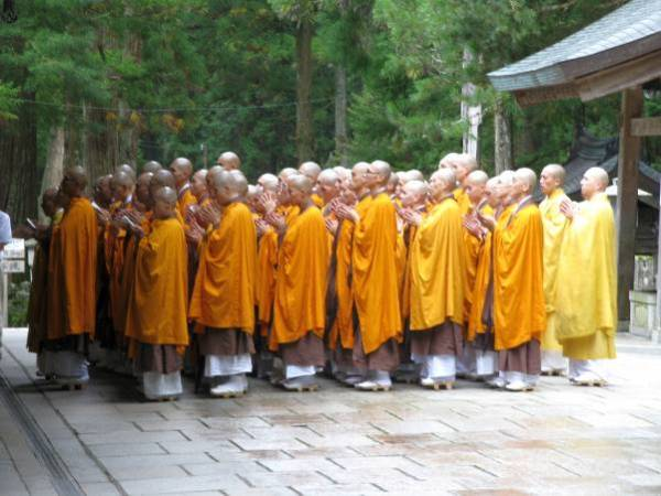 Monks at Koyasan by Tony Gibb