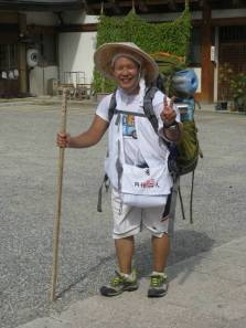 Typical O-Shikoku walking pilgrim by Tony Gibb