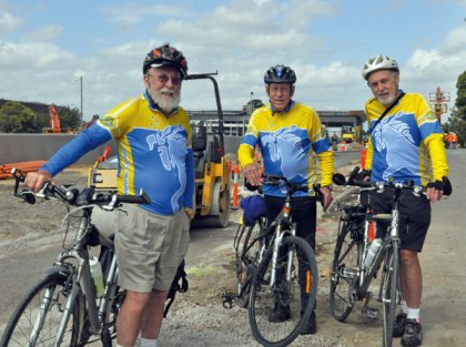 David Simm, Michael Hassett and David Hall at works on the Box Hill Ringwood Shared Path.
