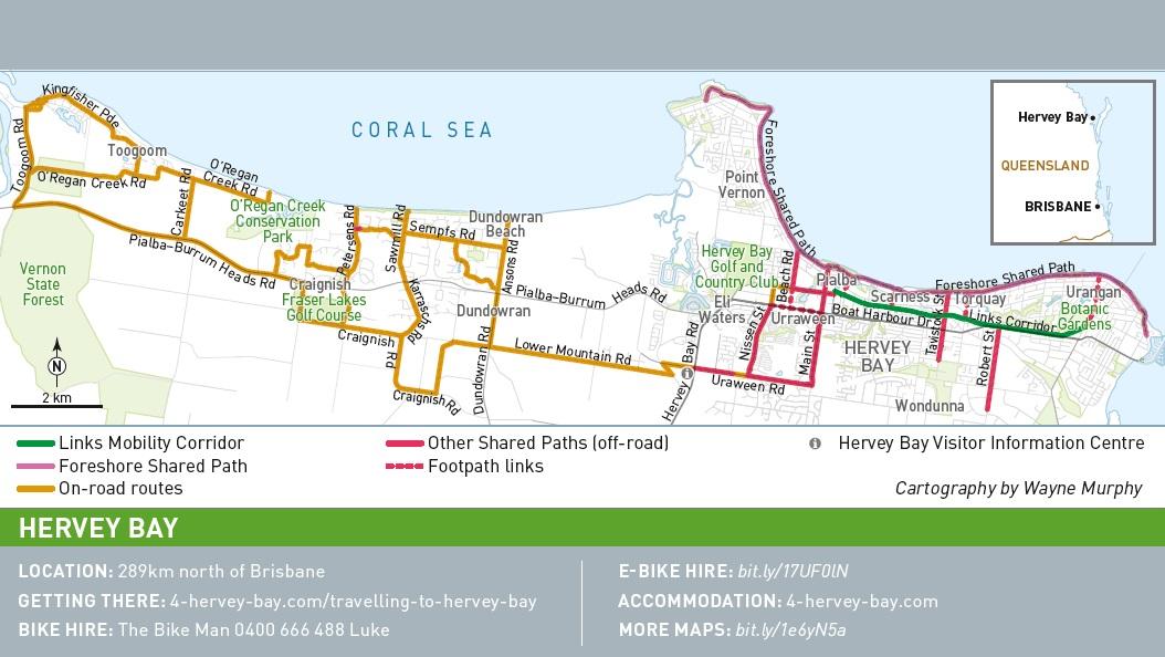 Wide Bay Biking Rideon Scheme and satellites photos view; wide bay biking rideon